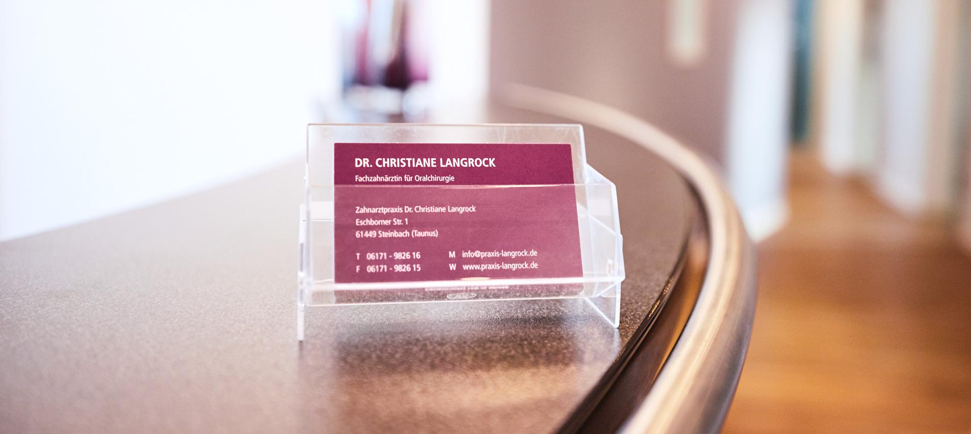 Zahnarztpraxis Dr. Christiane Langrock - Für Überweiser 1