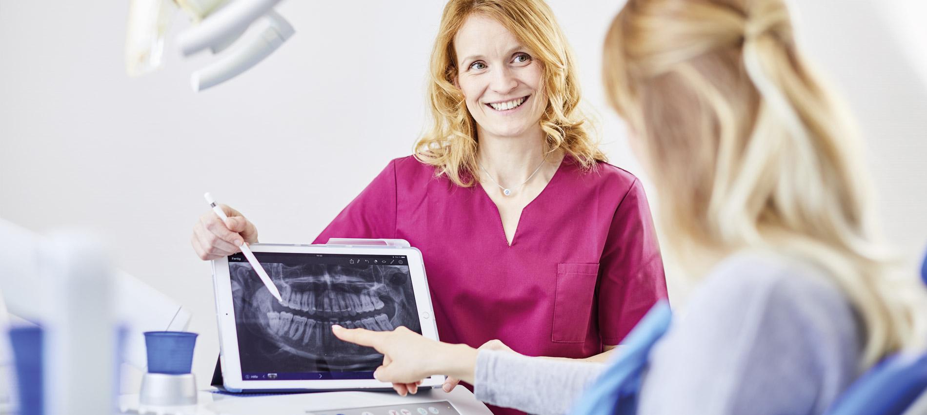 Zahnarztpraxis Dr. Christiane Langrock - Freilegung verlagerter Zähne 1